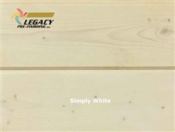 Spruce Prefinished Tongue And Groove Siding V-Joint Paneling - Simply White