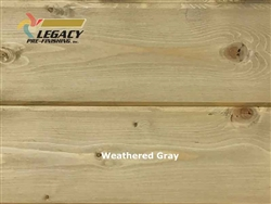 Spruce Prefinished Tongue and Groove V-Joint Boards - Weathered Gray