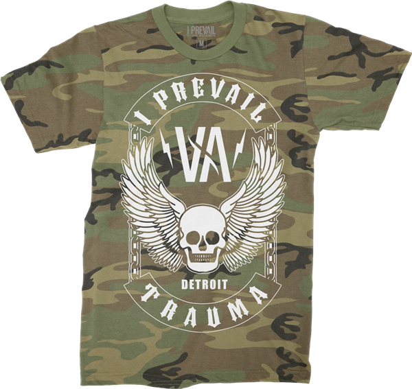 I Prevail - Winged Skull Camo T-Shirt