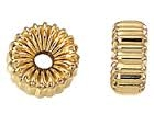 14K Gold Filled Corrugated Rondell Bead - 4mm - 2mm Hole Size