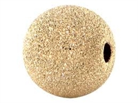 14K Gold Filled Frosted Round Bead - 6mm - 1.5mm Hole Size