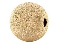 14K Gold Filled Frosted Round Bead - 8mm - 1.75mm Hole Size