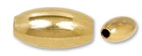 14K Gold Filled Smooth Rice Bead - 6mm x 4mm