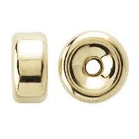 14K Gold Filled Smooth Rondell Bead - 4mm