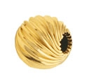 14K Gold Filled Twisted Corrugated Round Bead - 4mm - 1.5mm Hole Size