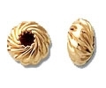 14K Gold Filled Twisted Corrugated Saucer Bead - 6mm
