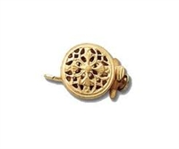 14K Gold Filled Filigree Clasp - Single Strand Round