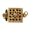 14K Gold Filled Filigree Clasp - Single Strand Square