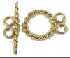 14K Gold 2-Strand Twisted Rope Toggle Clasp - 14mm