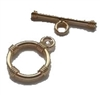 14K Gold Filled Bali Style Toggle Clasp