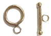 14K Gold Filled Brushed Twisted Toggle Clasp - 14mm