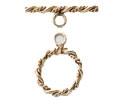 14K Gold Filled Double Twist Toggle Clasp - 16mm