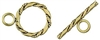 14K Gold Filled Fancy Flat Toggle Clasp - 15mm