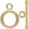 14K Gold Filled Smooth Round Toggle Clasp - 9mm