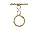 14K Gold Filled Twisted Toggle Clasp - 14mm