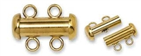 14K Gold Filled Multi-Strand Tube Clasp - 2 Strand