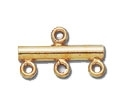 14K Gold Filled Multi-Strand Connector End - Flat 3 Strand