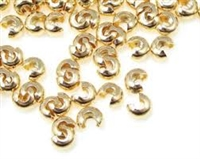 14K Gold Filled Crimp Cover - 4mm