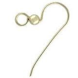 14K Gold Filled Round Fishhook with Bead