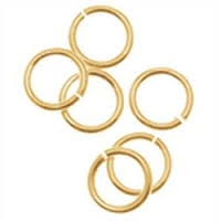 14K Gold Filled Open Jumpring - 5mm, 18ga - Click & Lock