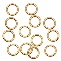 14K Gold Filled Soldered Jumpring - 5mm - 22 gauge