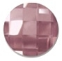 14mm Flatback Round Chessboard Antique Pink