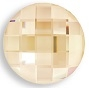 14mm Flatback Round Chessboard Golden Shadow