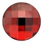 14mm Flatback Round Chessboard Red Magma
