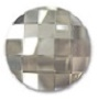 14mm Flatback Round Chessboard Silver Shade