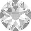 12ss Flat Back Round - Crystal