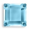 4mm Flatback Square Aquamarine
