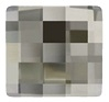 12mm Flatback Square Chessboard Black Diamond