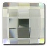 12mm Flatback Square Chessboard Silver Shade