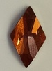 10 x 6mm Flatback Rhombus Crystal Copper