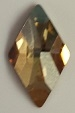 10 x 6mm Flatback Rhombus Golden Shadow