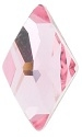 10 x 6mm Flatback Rhombus Light Rose
