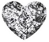 Swarovski 6mm Heart flat back- Black Patina