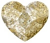 Swarovski 6mm Heart flat back- Gold Patina