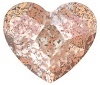 Swarovski 6mm Heart flat back- Rose Patina