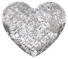 Swarovski 6mm Heart flat back- Silver Patina