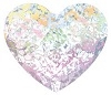 Swarovski 6mm Heart flat back- White Patina