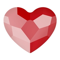Swarovski 6mm Heart flat back- Royal Red
