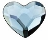 Swarovski 6mm Heart flat back- Denim Blue