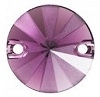 Swarovski 12mm Sew On Rivoli 1/2 Matte Amethyst