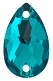Swarovski 12 x 7mm Pear Sew On Blue Zircon