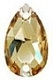 Swarovski 12 x 7mm Pear Sew On Golden Shadow