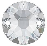 Swarovski 10mm 2 Hole Rhinestone/XIRUIS Sew On Crystal