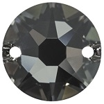 Swarovski 12mm 2 Hole Rhinestone/XIRUIS Sew On Silver Night