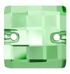 Swarovski 12mm Square Chessboard Sew On Peridot
