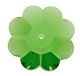 Swarovski 14mm Margarite Bead/Sew On Fern Green